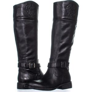 Vince Camuto Flavian Leather Riding Boots